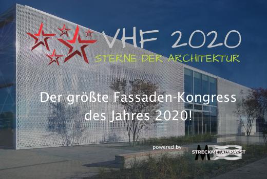 Int. Fassaden-Kongress VHF 2020 Sterne der Architektur